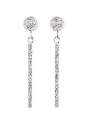 White-gold sparkly Magic Wand earrings