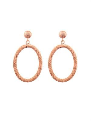 Pink-gold gypsy earrings