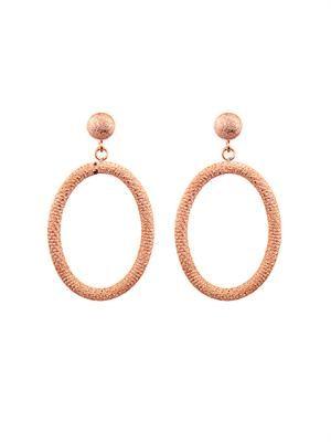 Pink-gold gypsy earrings