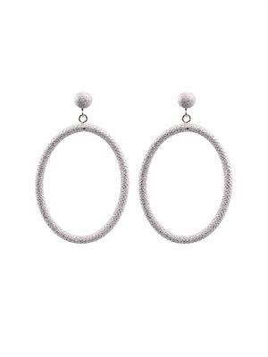 White-gold gypsy earrings