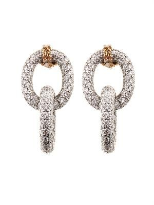 Diamond & gold double-link 1885 earrings
