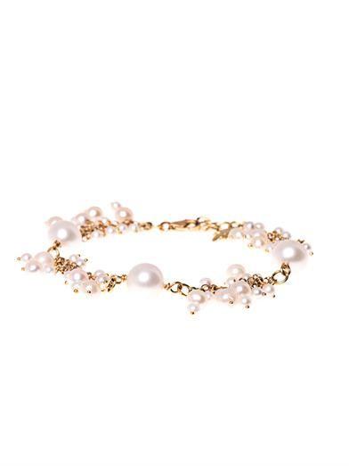 Carolina Bucci Gold & pearl cluster bracelet