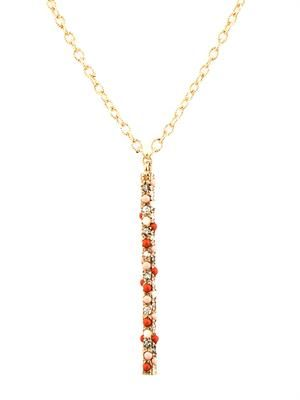 Diamond, opal & gold magic-wand necklace