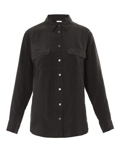 Equipment Signature washed silk shirt