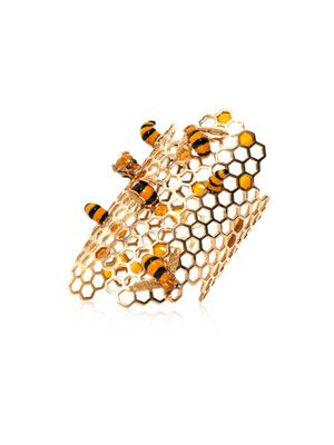 Gold-plated To Bee or Not To Bee cuff