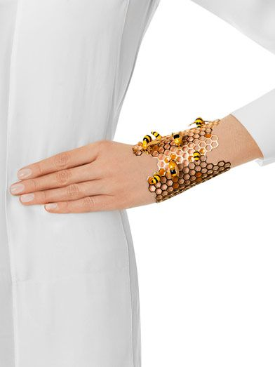 Delfina Delettrez Gold To bee or not too bee cuff