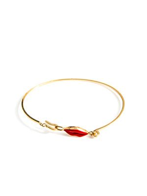Gold Elizabeth lips bracelet