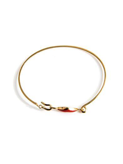 Delfina Delettrez Gold Elizabeth lips bracelet