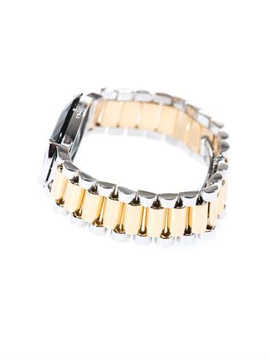 Delfina Delettrez Quartz, silver & yellow gold-plated bracelet