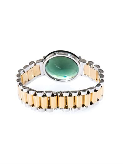 Delfina Delettrez Quartz, silver & yellow-gold plated bracelet