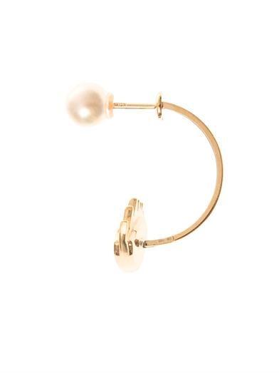 Delfina Delettrez Pearl, gold and enamel single earring