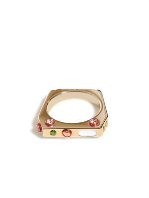 Gold-plated silver rainbow ring