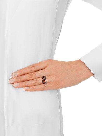 Delfina Delettrez Silver Ray of Light ring