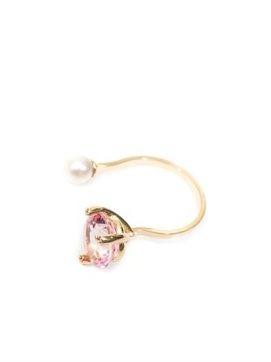 Delfina Delettrez Diamonds, topaz, pearl and gold ring