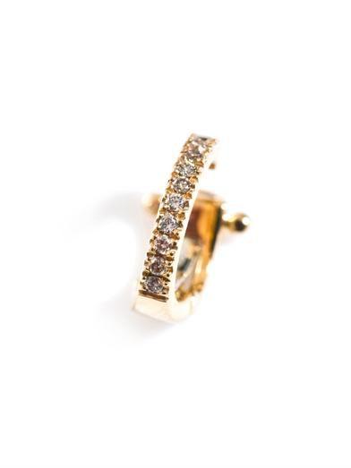 Elise Dray Diamond & gold cartilage clip earring