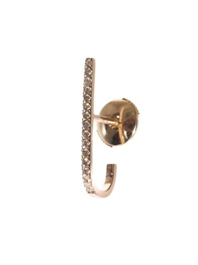 Elise Dray Brown diamond & gold mini bar single earring