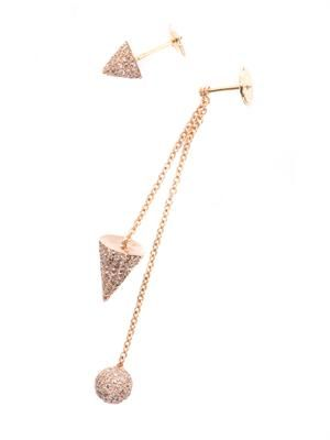 Diamond & pink gold muse earrings