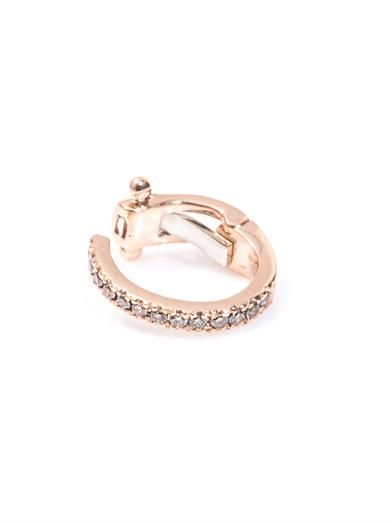 Elise Dray Diamond & rose gold ear cuff