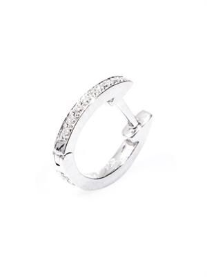 Diamond & white gold single hoop  earring