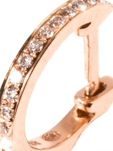 Elise Dray Diamond & gold single hoop earring