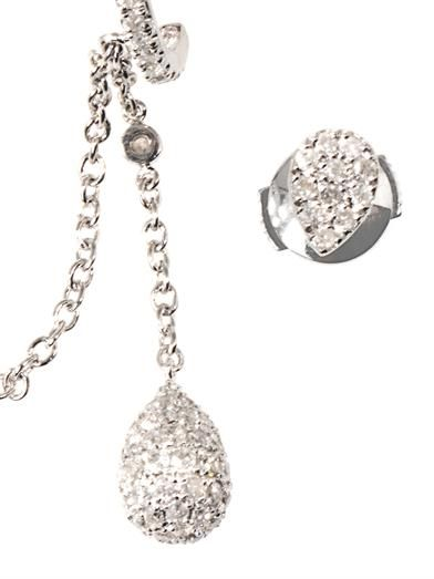 Elise Dray Diamond & gold Pleureuses earrings