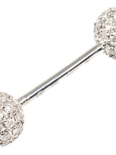 Elise Dray Diamond & gold double-ball earring