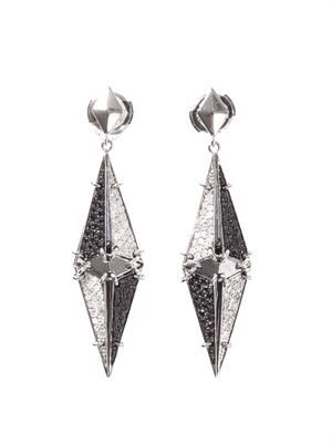 Diamond & white gold Arlequin earrings