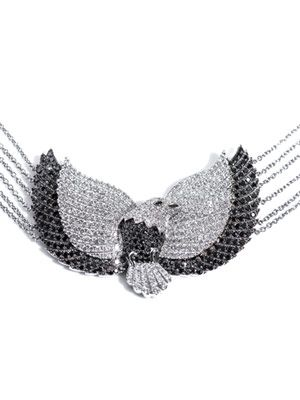 Diamond and white gold eagle necklace