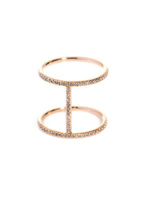 Champagne diamond & gold Roman ring
