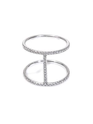 Diamond & white gold Roman ring