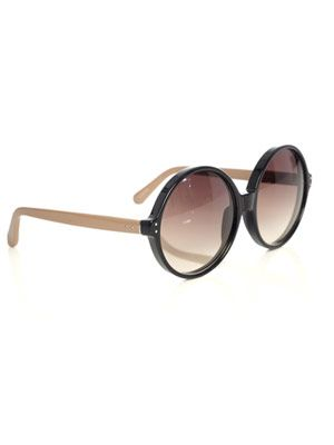 Round black and nude sunglasses