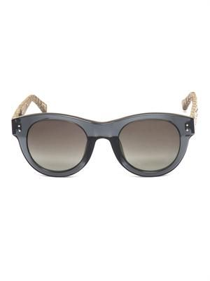 Acetate and snakeskin wayfarer sunglasses