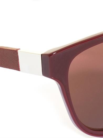 The Row Acetate and leather sunglasses