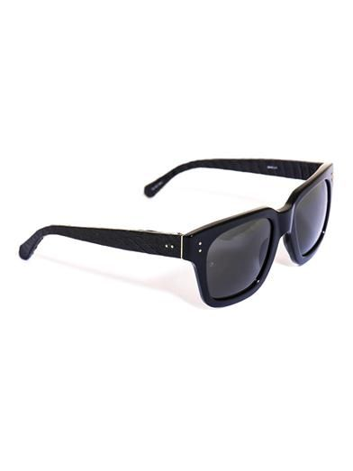 Linda Farrow Water snake and acetate sunglasses