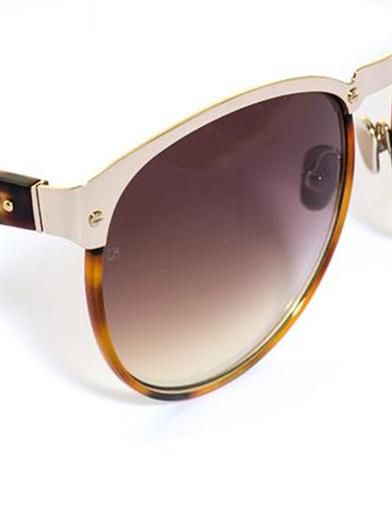 Linda Farrow Aviator Windsor rim tortoiseshell sunglasses