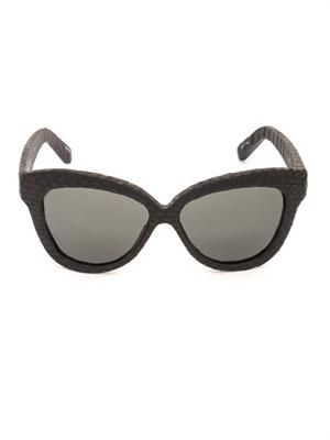 Snakeskin large cat-eye sunglasses