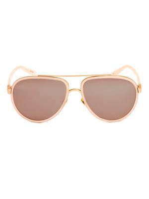 24ct rose gold-plated sunglasses