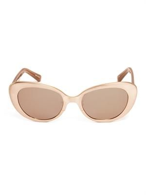 Rose gold-plated sunglasses