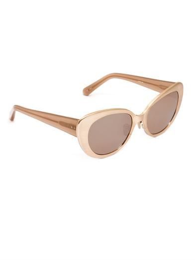 Linda Farrow Rose gold-plated sunglasses