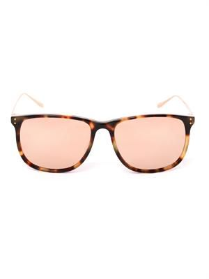 Tortoiseshell and rose-gold sunglasses