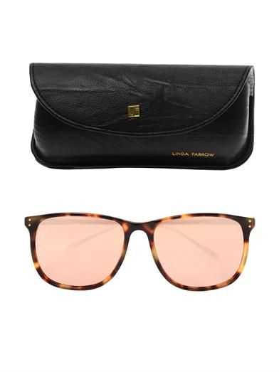 Linda Farrow Tortoiseshell and rose-gold sunglasses