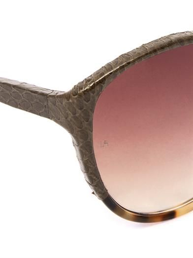 Linda Farrow Snakeskin and acetate sunglasses