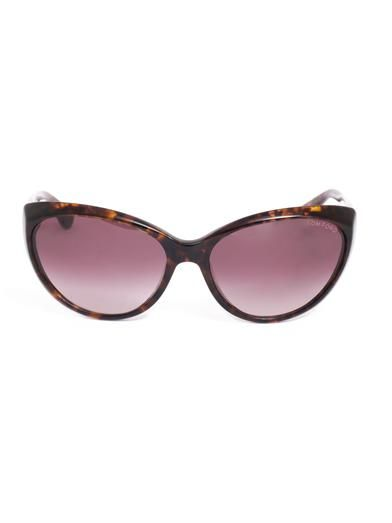 Tom Ford Sunglasses Havana cat-eye sunglasses