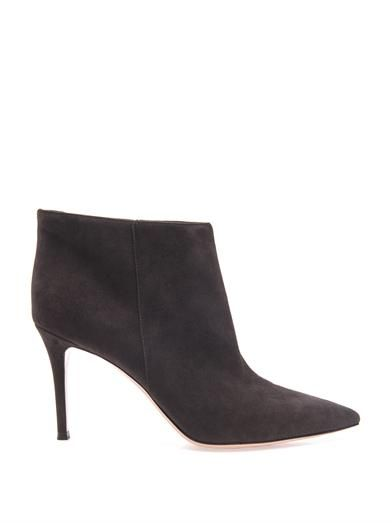 Gianvito Rossi Stilo suede ankle boots