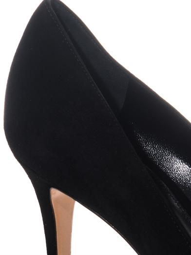 Gianvito Rossi Point-toe suede pumps
