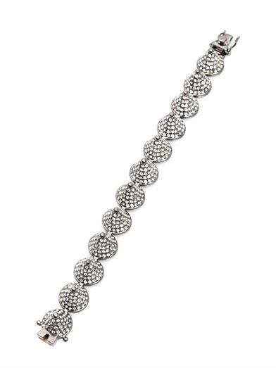 Eddie Borgo Pavé crystal cone bracelet