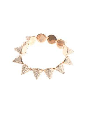 Pavé crystal cone bracelet