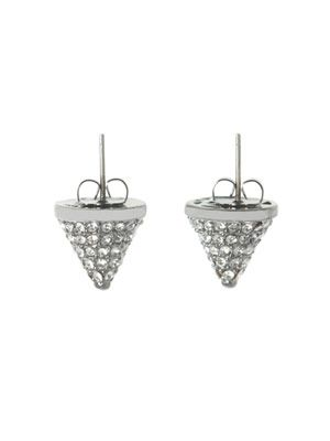 Pavé crystal cone stud earrings