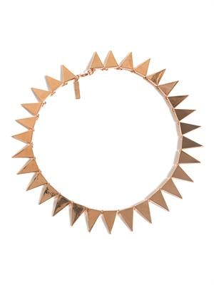 Flat spike necklace