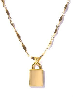 Padlock gold-plated necklace